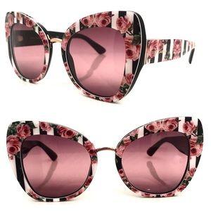 Dolce&Gabbana Butterfly floral stripe sunglasses